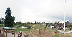 Panorama: The official Eureka service from the children's playground fort - Eureka160-IMG_9339-IMG_9338
