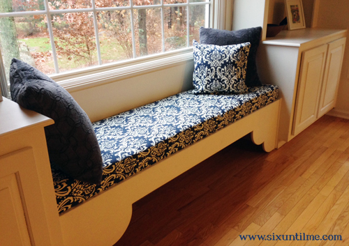 Armed With Fabric Padding Plywood A Staple Gun And A Very Helpful Youtube Video It Took Me Ten Minutes To Make A Window Sat Cushion For The Bench
