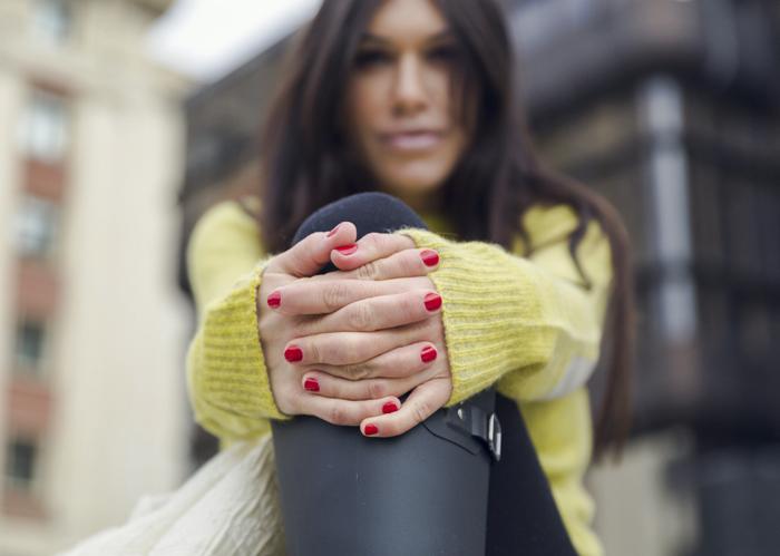 street style barbara crespo zadig and voltaire outfit autumn yellow fashion blogger blog de moda