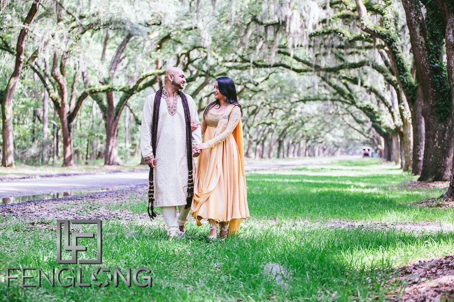 Dipal & Vinay | Savannah Destination Indian Engagement Photography