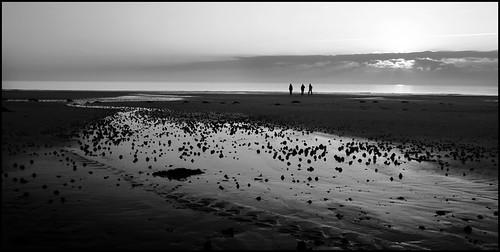 sunset sea sky bw sun mer beach landscape noir space empty horizon nb paysage plage blanc espace manche spaces essentiel