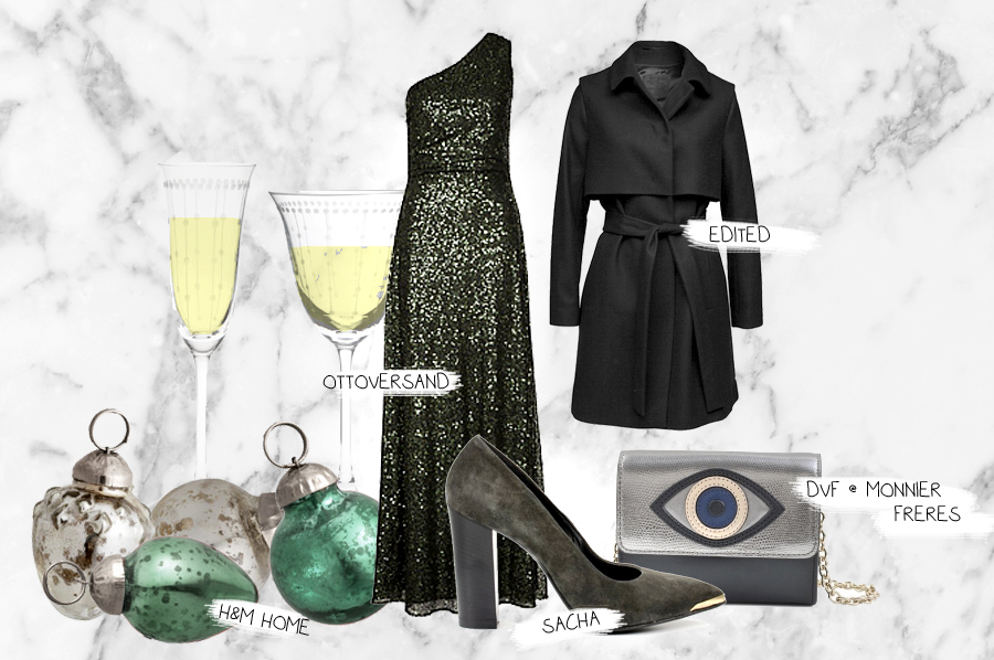 ottoversand.at silvester outfit new year's eve glitter dress champagne heels luxury bag cats and dogs ricarda schernus fashionblogger berlin