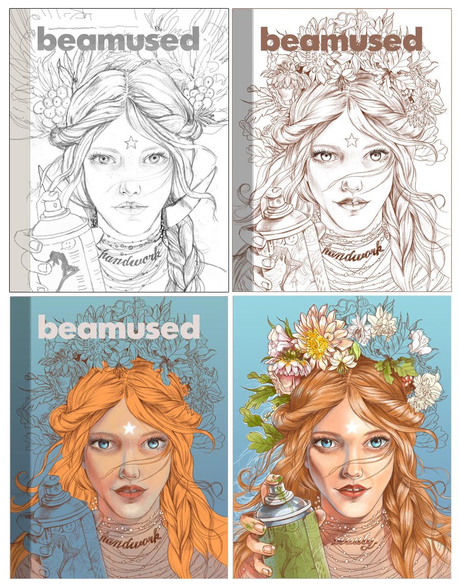 My cover illustration for Beamused magazine Nr.8