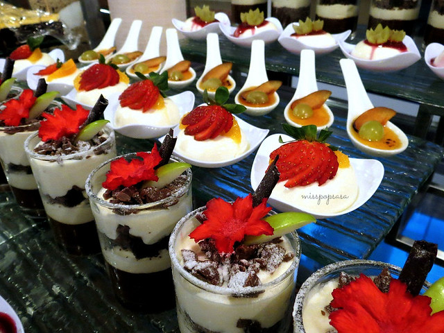 Selections of pudding