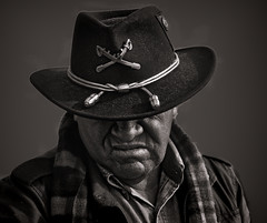 clothing, monochrome photography, hat, cowboy hat, monochrome, darkness, black-and-white, black, cowboy, headgear,