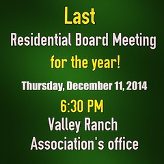 #LastMeeting #Residential #Board #Meeting #ValleyRanch #Irving #Texas #BeThereOrBeSquare #Thursday #Evening