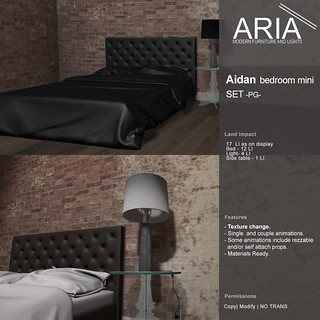 ARIA Aidan bedroom mini set (PG) at The Mens Dept!