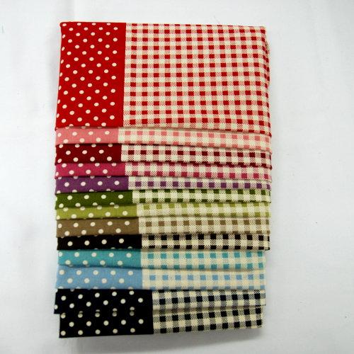 點格雙邊印花 點點 圓點 水玉 方格 格子 配布 手工藝DIy拼布布料 CA600053