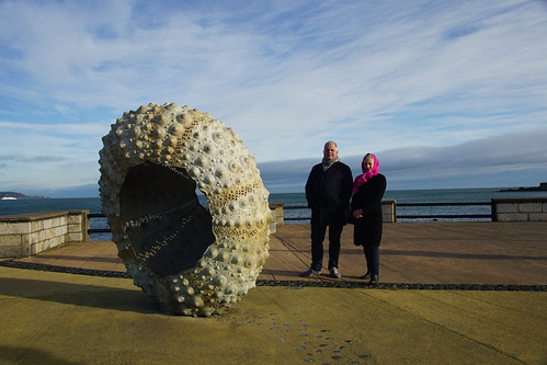 Fred and Diana with shell