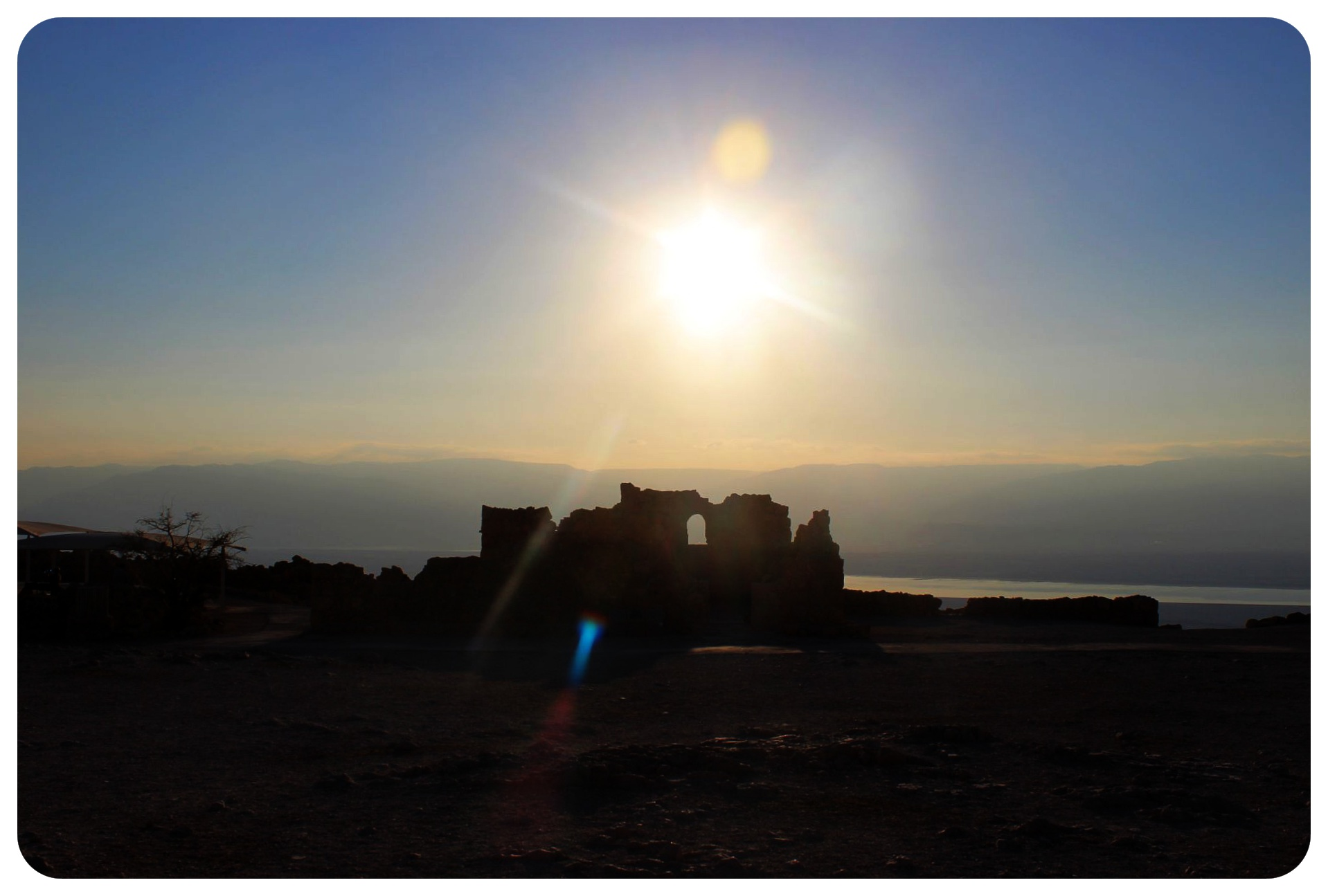 masada ruin at sunrise
