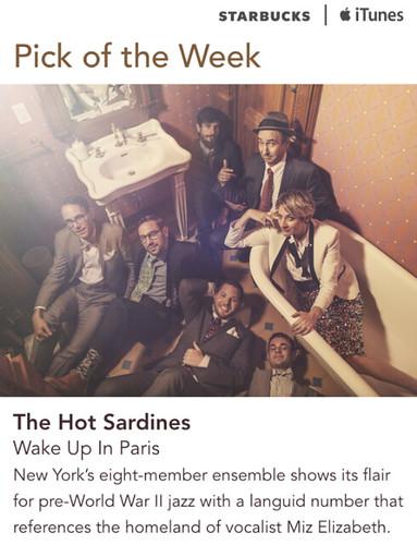 Starbucks iTunes Pick of the Week - The Hot Sardines - Wake Up In Paris