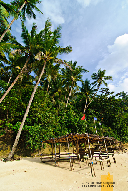 Huts at Guisi Beach in Guimaras