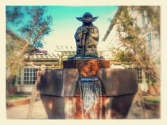 Yoda Fountain IOLSF at Yoda Statue