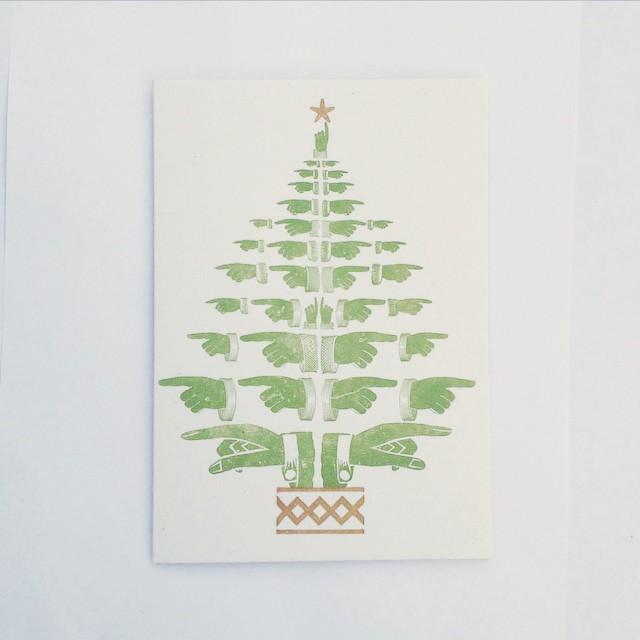 Letterpress Christmas Cards.Print For Love Of Wood Letterpress 2015 Letterpress
