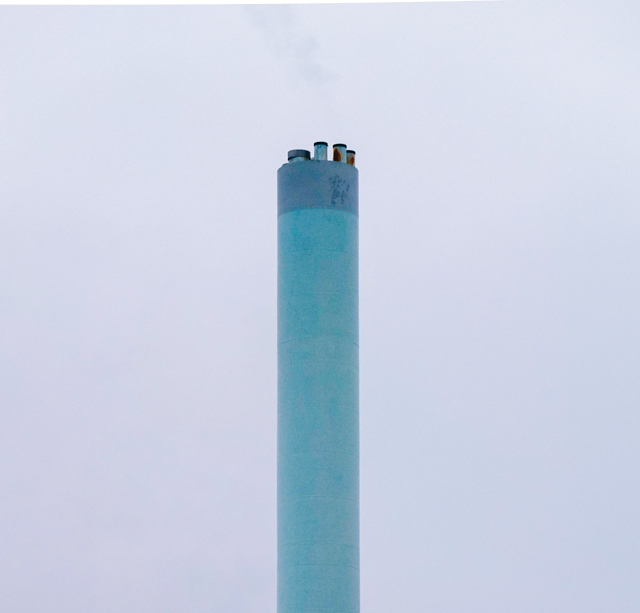 turquoise hospital chimney