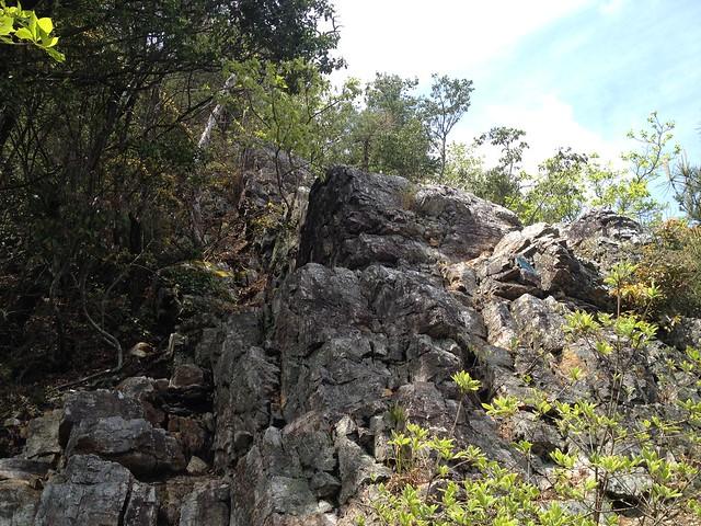 納古山 中級コース 天空岩