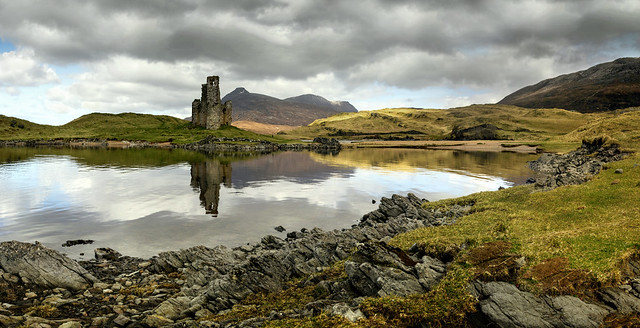Ardvreck Castle reflected