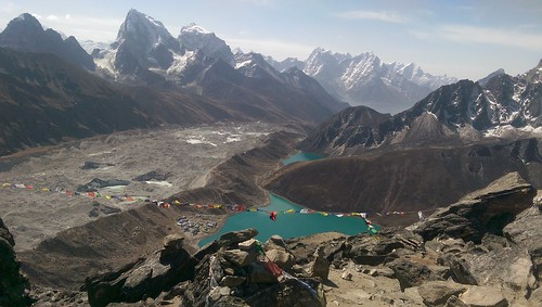 Gokyo and glacier from Gokyo Ri
