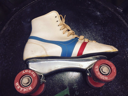 Old School Roller Derby Skates at Thrift Store (May 20 2015)