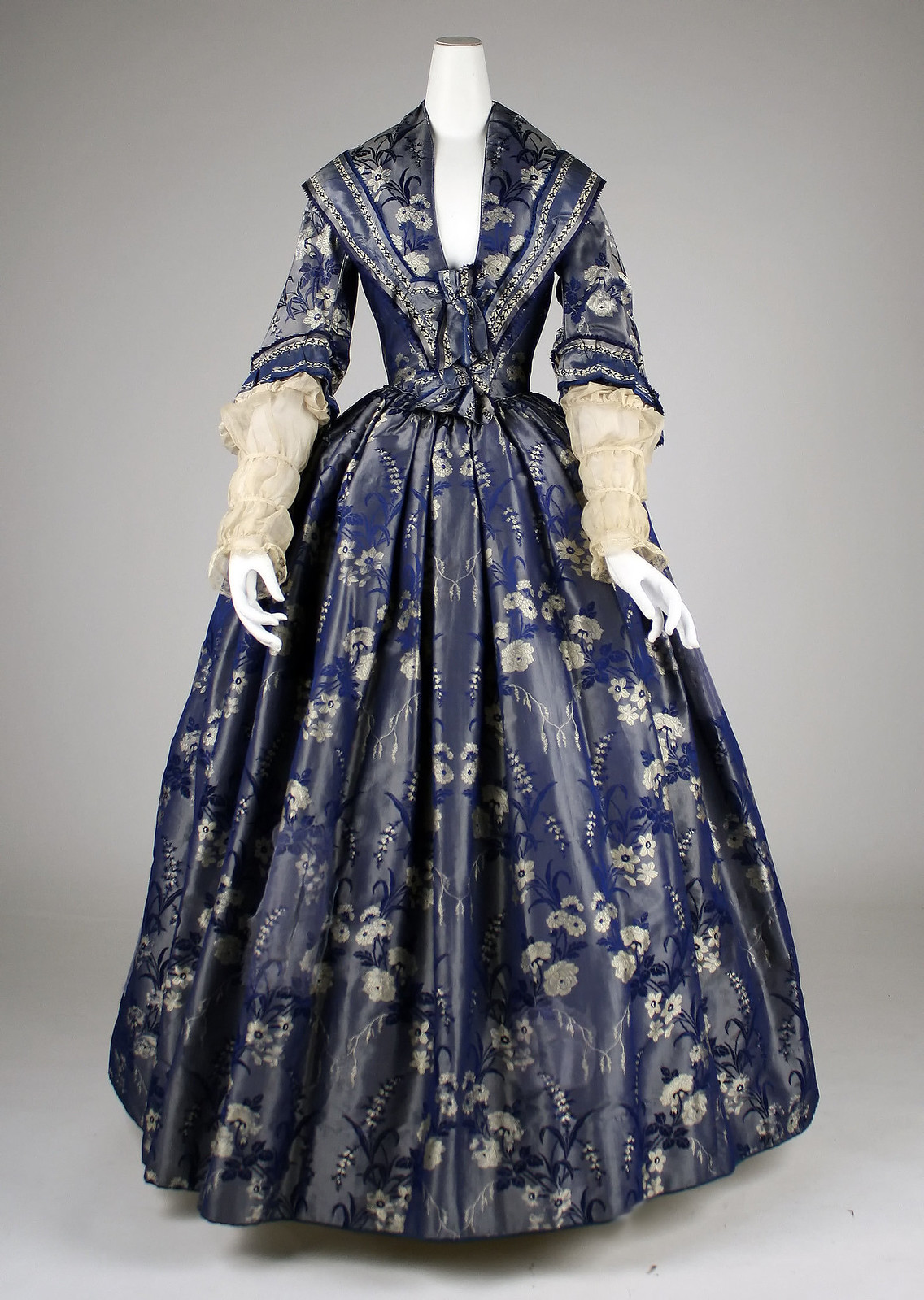 1842, British, silk. metmuseum