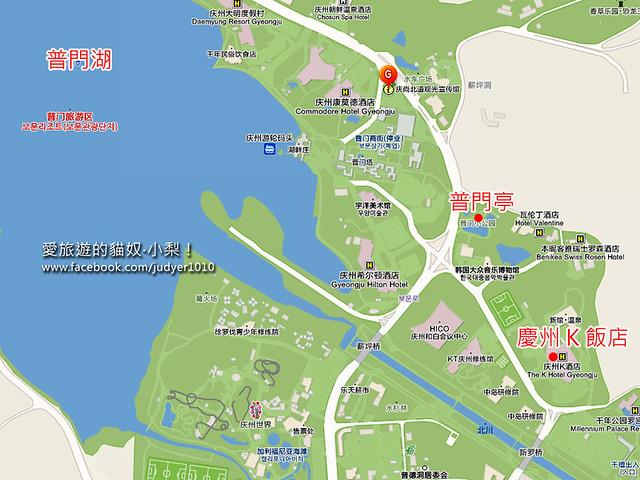 普門胡地圖