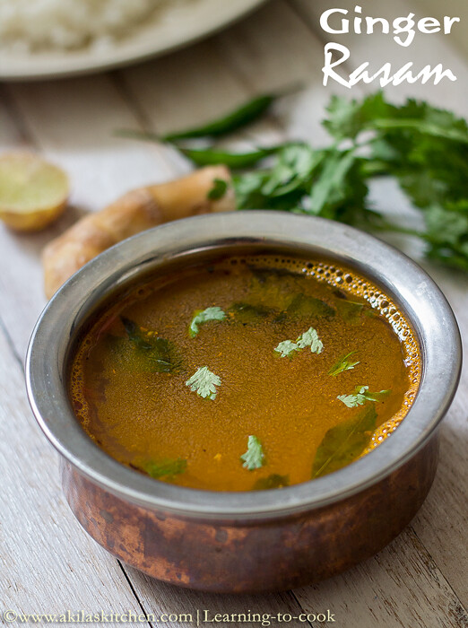 how to make ginger rasam