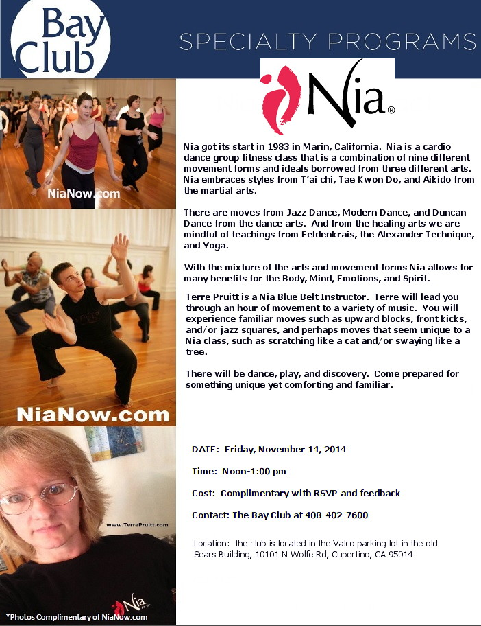 Dance Exercise, Nia, Nia at the City of San Jose, Nia classes in the South Bay, Nia Teacher, Nia Class, San Jose Nia, Nia San Jose, Nia workout, Nia, Zumba, PiYo, Gentle Yoga, Group Ex City of San Jose, San Jose Group Ex classes, YMCA