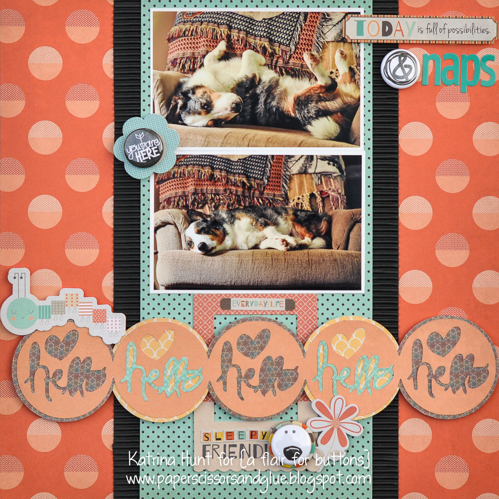KatrinaHunt-A Flair for Buttons-Fancy Pants-Hello Sleepy Friend-1000Signed-1
