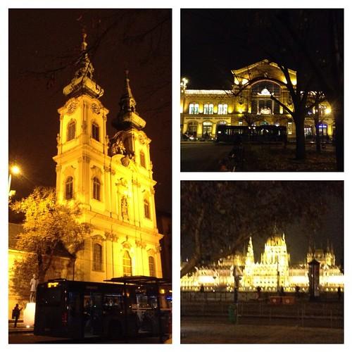 Пройдя мимо церкви, я покупаю   продукты на ужин вот в таком здании. Очень приятно с полной сумкой вкусной снеди постоять у Дуная и полюбоваться на Парламент))) #будапешт  #чудесанапомеле
