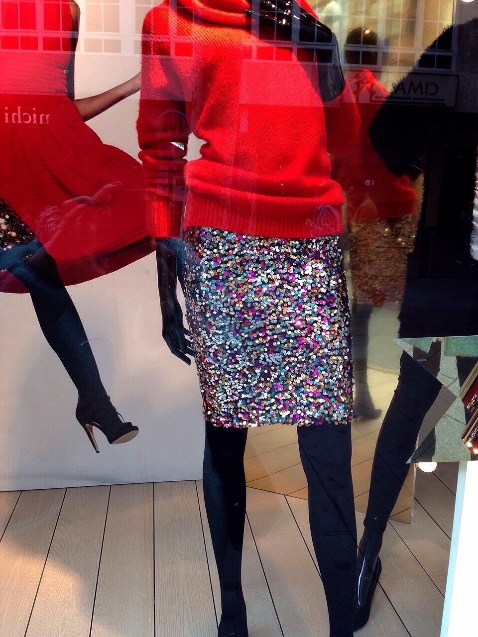 falda lentejuelas h&m