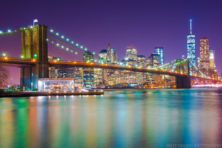 Brooklyn Bridge - New York City Skyline