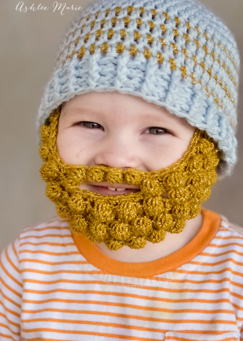 Beanie Hat With Beard Crochet Pattern Free : 365 Crochet