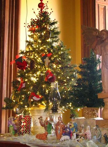 living room nativity