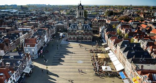 View over the Markt, Delft