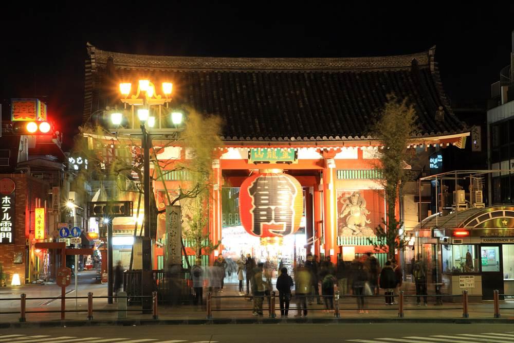 上野-浅草の散歩 雷門前