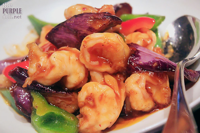 Braised Shrimps, Eggplants, Chilli, Bean Paste (MOP 190)