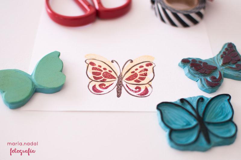 4estampado en capas - mariposa
