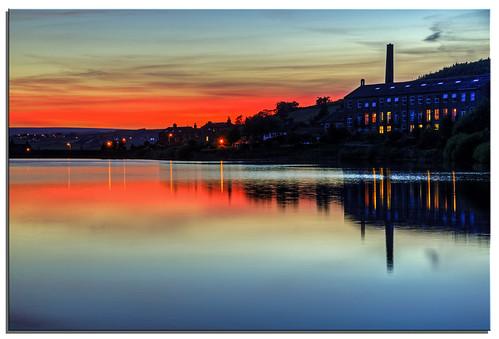 sunset reflection water yorkshire ngc reservoir 2014 leeming d600 nikonfxshowcase