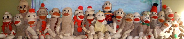 sock monkey line-up