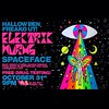 HALLOWEEN FREAKOUT!!! #electricwurms & @spacefacemusic playing at @waynecoyne5's @wombgallery tonight in OKC!! My art is there but I am not!! Someone PLEASE teleport me! 🌀🌈🌀