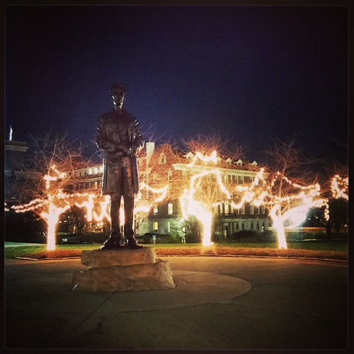 They had some of the holiday lights on last evening at Lytle Park in downtown Cincinnati...