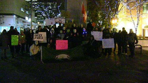 Million Mask March - Edmonton