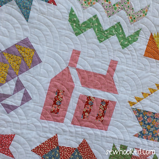 Paper Piecing Vintage - Quilting Close-up