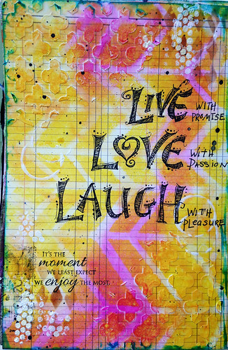 Live Love Laugh art journal