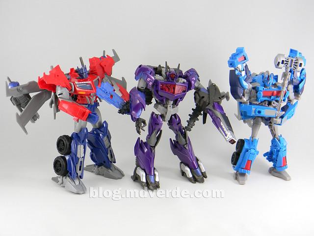Transformers Hunter Shockwave Voyager - Transformers Go - modo robot vs Optimus vs Ultra Magnus