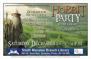 Hobbit Party for Teens @ the South Manatee Branch Library