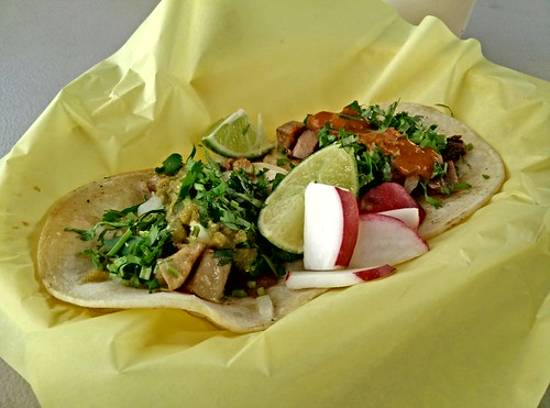Tripas and Lengua Tacos