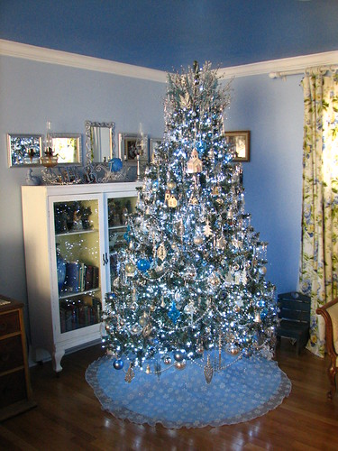 blue and silver tree
