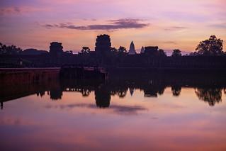 Outside Angkor Wat for Sunrise