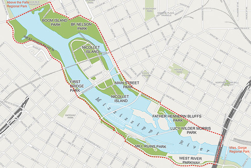 Central Riverfront Regional Park Boundaries
